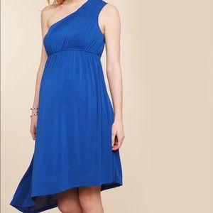 JESSICA SIMPSON MATERNITY DRESS BLUE SZ L